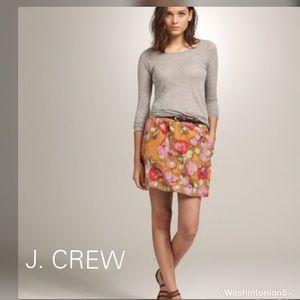 J. Crew Poppy Waterfloral Skirt